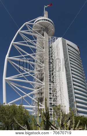 Vasco Da Gama Tower In Lisbon