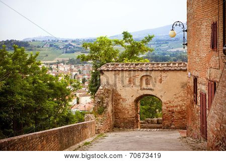 Street In The Old Town Certaldo, Italy