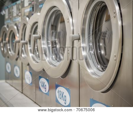 Washing Machines At Laundry