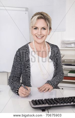 Portrait Of Mature Successful Business Woman.