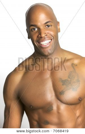 Young Attractive Athletic Man Isloated on White