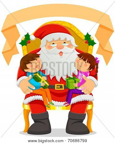Santa Clause with children