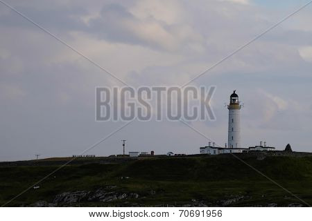 Lighthouse on hill