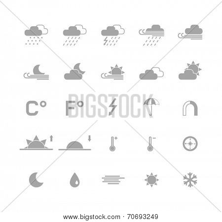 set of monochrome weather icons
