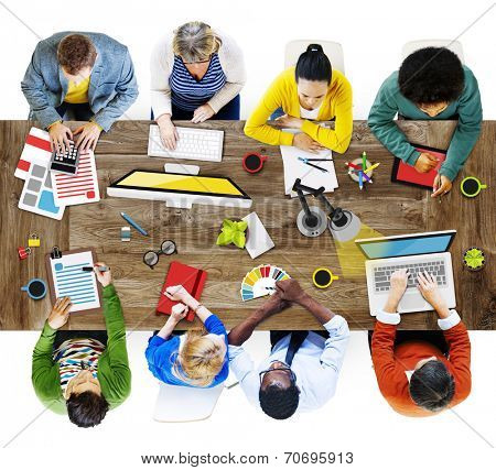 People Working in the Office Photos and Illustration