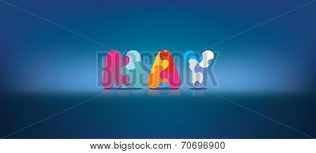 MAY written with alphabet puzzle - vector illustration