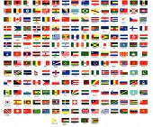 Vector Flags of all countries in by the region of the world poster