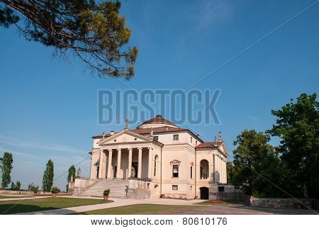 Villa La Rotonda is a Renaissance villa just outside Vicenza in northern Italy and designed by Andrea Palladio poster