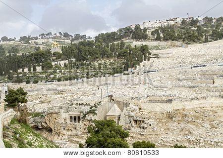 Mount Of Olives In Jerusalem .