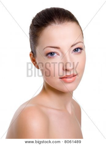 Beautiful  Female Face With Fashion Makeup