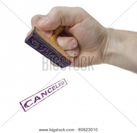 Canceled Sign Form Stamp