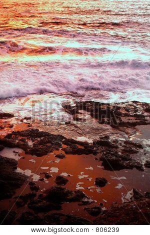 sea foam and fire