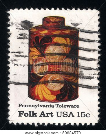 American Folk Art - Pennsylvania Toleware Stamps. Usa 1979