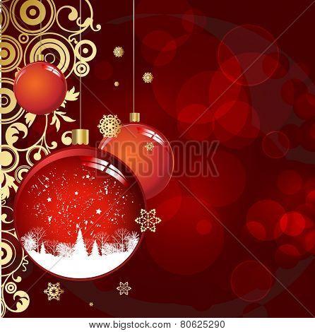 Christmas colorful balls hanging. Eps 10