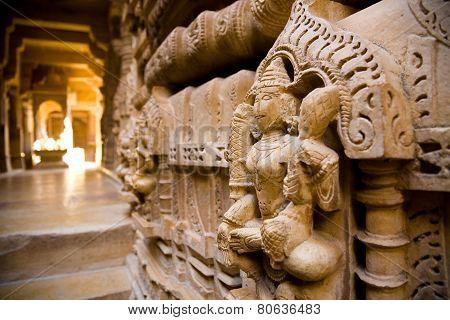 Interior Of Jain Temple, Jaisalmer, India