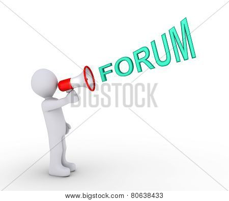 Person Inviting To Forum