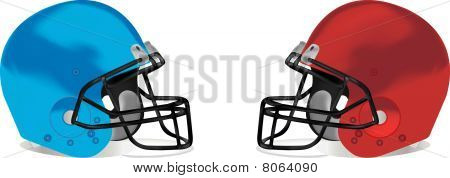 American football detail helmet illustration
