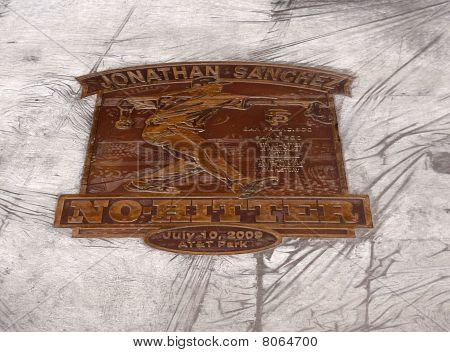 Jonathan Sanchez - No Hitter Plaque