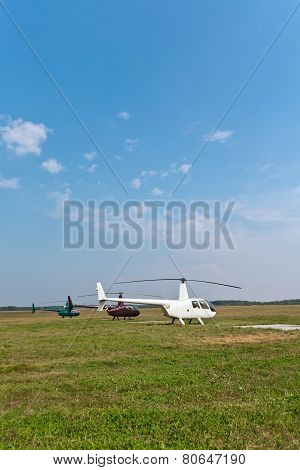 Helicopters On The Ground