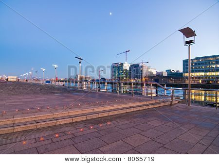 Dublin Docklands in the Evening