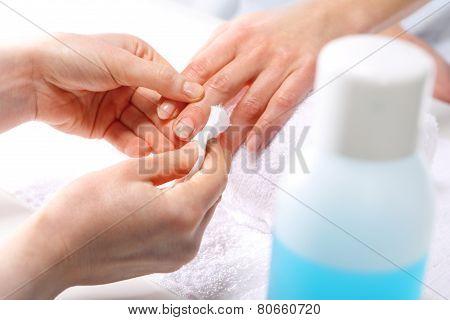Cosmetic nail polish washes