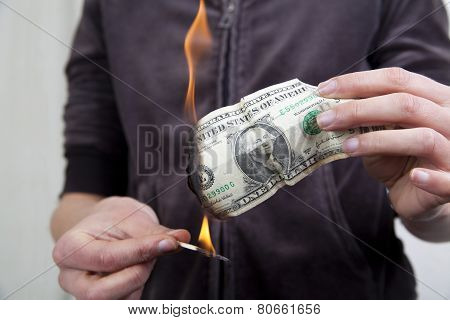 Burnning The Money