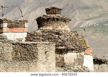 Buddhist Stupa At The Tibetan Village