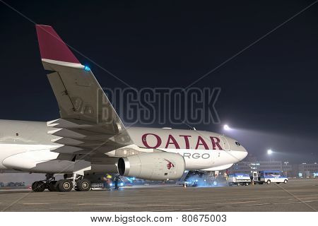 Budapest, Hungary - March 5 -  Quatar Airbus A330-202, A7-afl From Qatar Airways At Budapest Airport