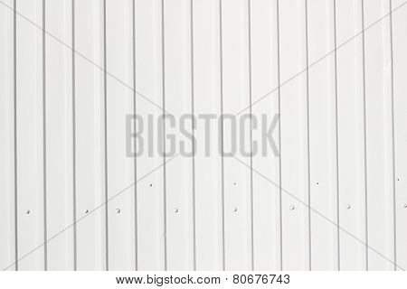 White Corrugated metal texture surface background