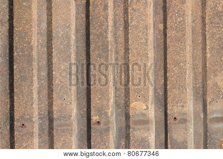 Metal texture with corrugated and rust