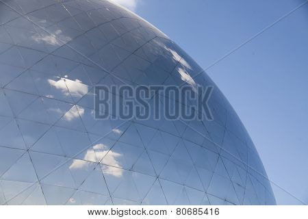 glass dorm with blue sky