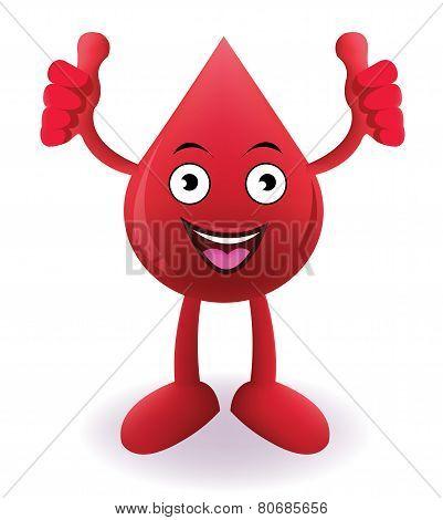 Cartoon Smiling blood