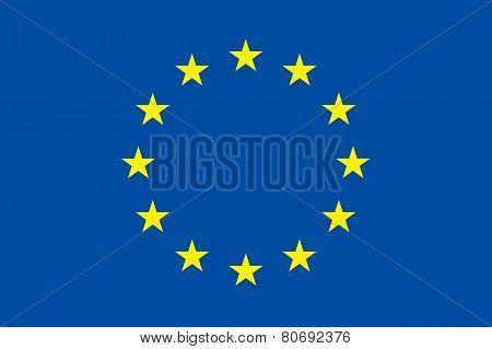 European Union Flag. Original Proportion And Colors. Eu Symbol