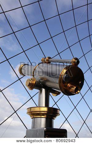 Binocular At Eiffeltower In Paris France