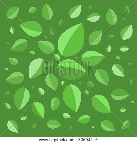 Green leaves green background stock vector illustration
