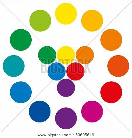 Color Wheel With Circles