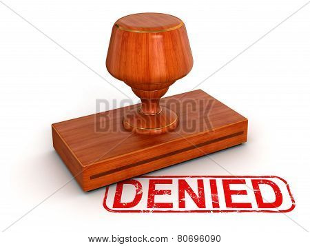 Rubber Stamp Denied (clipping path included)