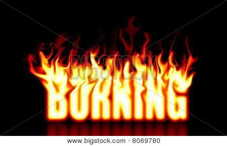 Burning text