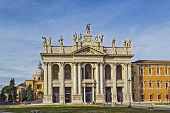 The Papal Archbasilica of St. John Lateran is the cathedral church and the official ecclesiastical seat of the Bishop of Rome who is the Pope. Facade of the basilica poster