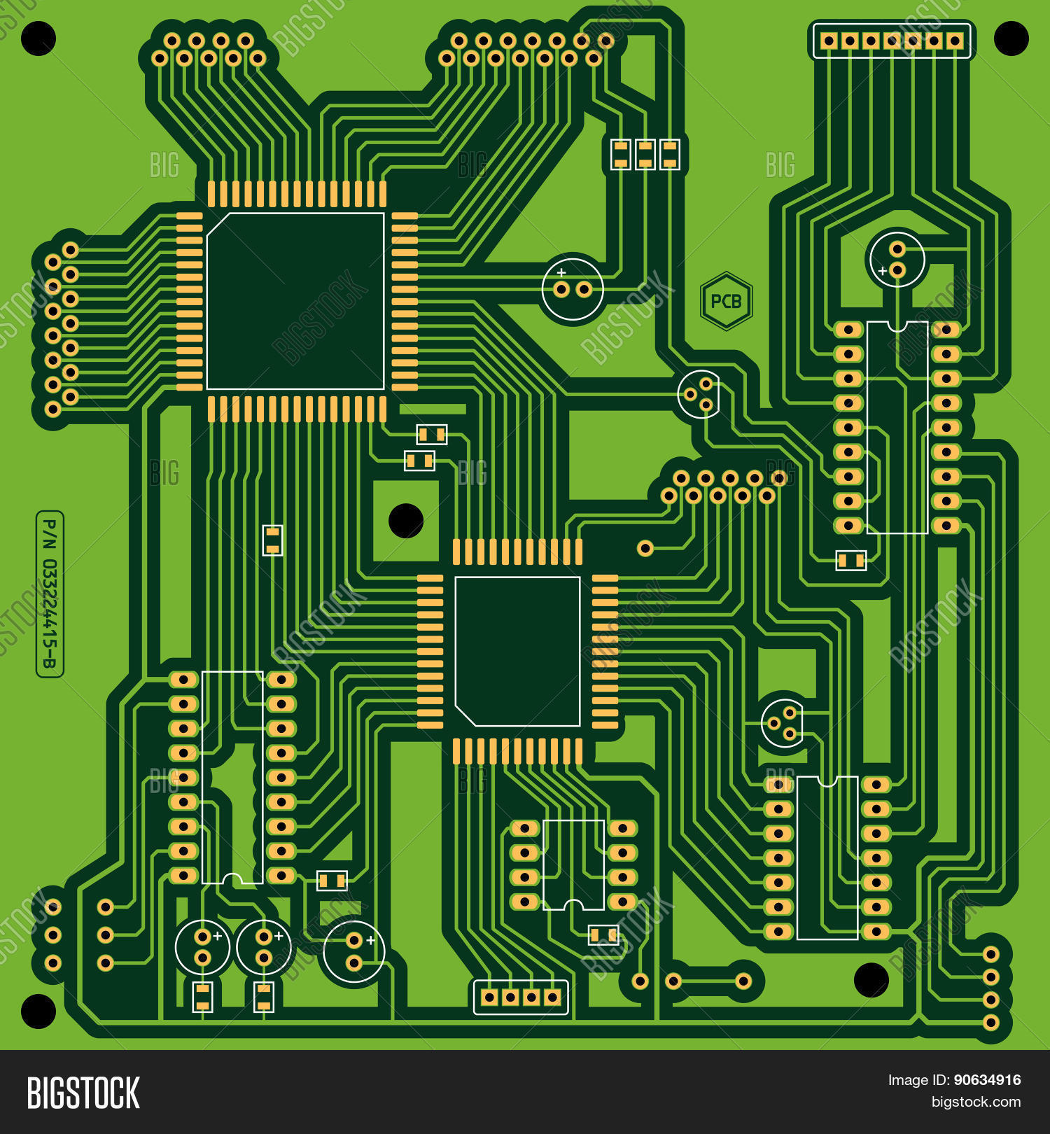 Printed Circuit Board Vector Photo Free Trial Bigstock Electronic Royalty Stock Photography Close Image Preview