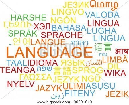 Background concept wordcloud multilanguage international many language illustration of language