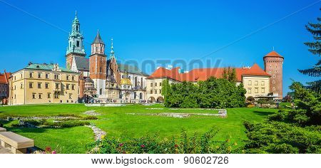 Courtyard of Wawel Royal Castle, Cracow, Poland