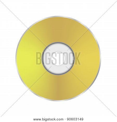Gold Compact Disc Icon
