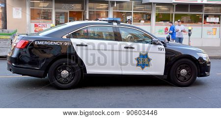 Car of San Francisco Police Department