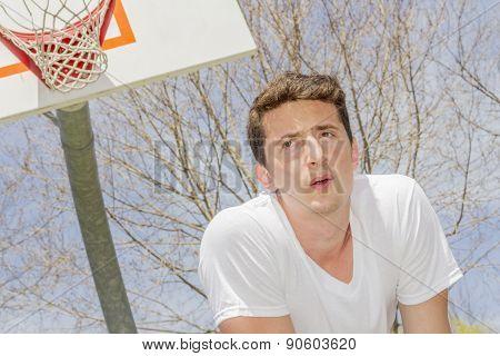 Basketball Athlete Resting