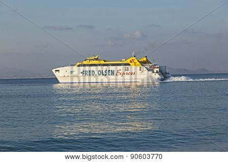 Ferry Bocayna Express From Fred Olsen On The Ocean