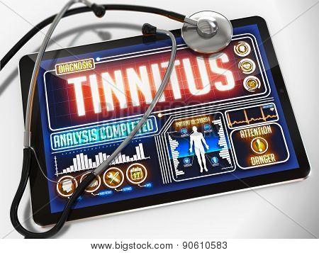 Tinnitus on the Display of Medical Tablet.