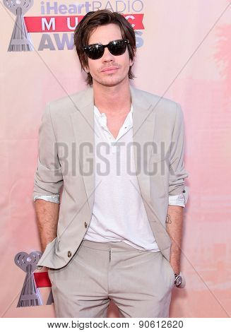 LOS ANGELES - MAR 29:  Nate Ruess arrives to the 2015 iHeartRadio Music Awards  on March 29, 2015 in Hollywood, CA