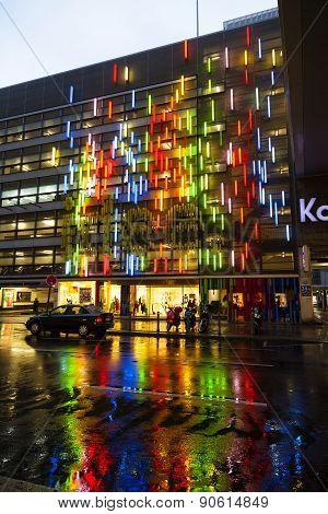 Famous Shopping Street Kurfürstendamm With Kadewe By Night