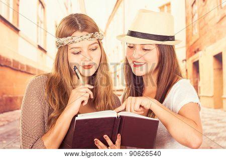 Beautiful college girls travelling